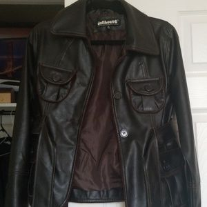 Leather jacket size med